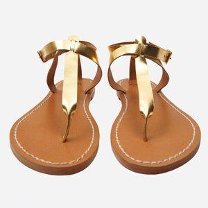 🌸New🌸 Zara Flat Laminated Leather sandals 6.5-9